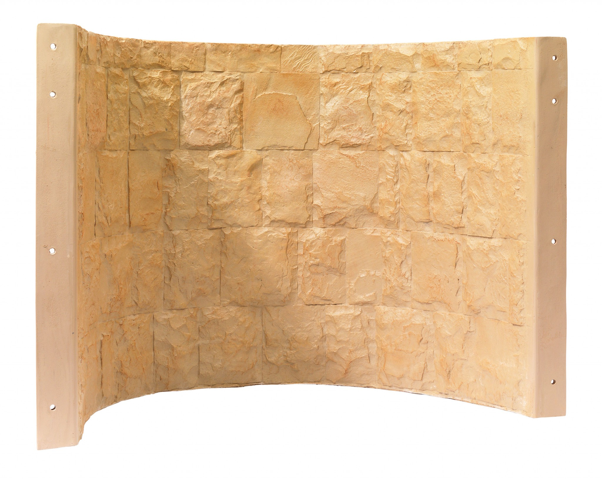 Tan tall brown faux stone Rockwell 42 series egress window well cover with steps built by RockWell egress window wells