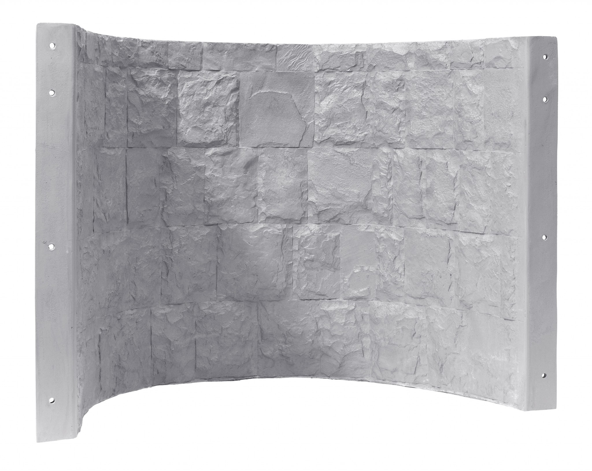 Gray faux stone Rockwell 42 series egress window well cover with steps built by RockWell egress window wells