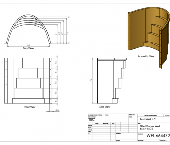 dimensions for egress window well installation