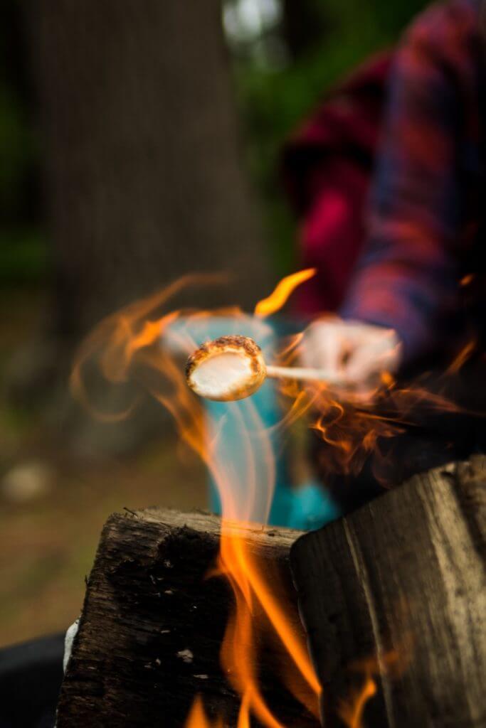 roasting a marshmallow